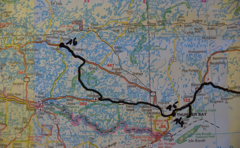 Dag 16 – Thunder Bay, ON naar Dryden, ON (421 km)